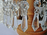 "Clear Glass Torpedo 37 mm 1.5"" Chandelier Crystals Transparent Drops Beads Droplets"