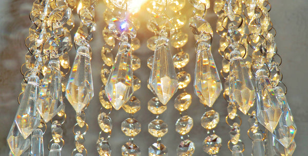 "1 Clear Glass Torpedo 37 mm 1.5"" Chandelier Crystals Transparent Drops Beads Droplets Light Parts"