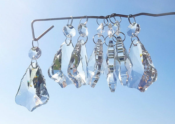 Clear Cut Glass Bell 2 inch Chandelier Crystals Drops Double Facet Transparent Droplets Prisms 4