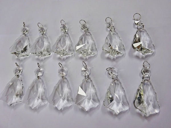 "12 Clear 50mm 2"" Bell Chandelier Glass Crystals Beads Droplets Garden Window Decorations 7"