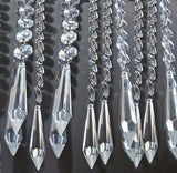 Clear Glass Torpedo XL Icicle 335 mm / 13.4 inch Chandelier Chain of Drops Crystals Beads Garland Pendant Decoration 11