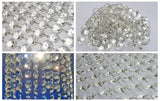 100 x 18mm Octagonal Chandelier Drops Crystals Beads 2.25m Garland 3