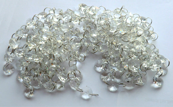 14mm Octagon Clear Transparent Chandelier Drops Cut Glass Crystals Garlands Beads 4