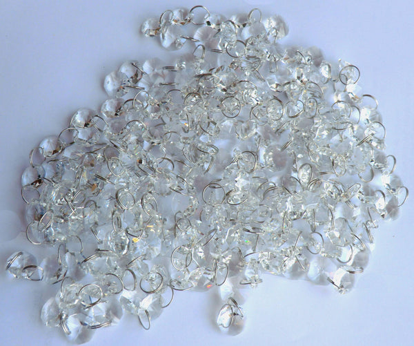 14mm Octagon Clear Transparent Chandelier Drops Cut Glass Crystals Garlands Beads Droplets Parts 4