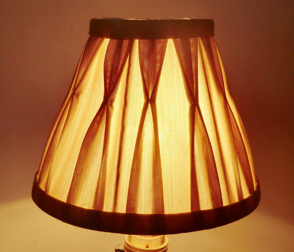 Antique Gold Clip On Candle Lampshade 6 Inch Chandelier Shade Pleated 3