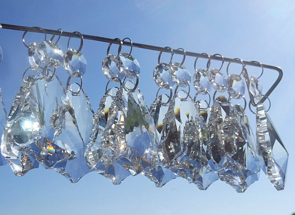 Clear Cut Glass Bell 2 inch Chandelier Crystals Drops Double Facet Transparent Droplets Prisms 7