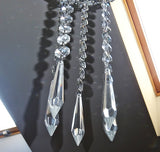 Clear Glass Torpedo XL Icicle 335 mm / 13.4 inch Chandelier Chain of Drops Crystals Beads Garland Pendant Decoration 7