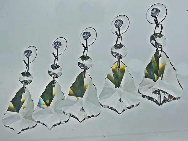 Clear Cut Glass Bell 2 inch Chandelier Crystals Drops Double Facet Transparent Droplets Prisms 3