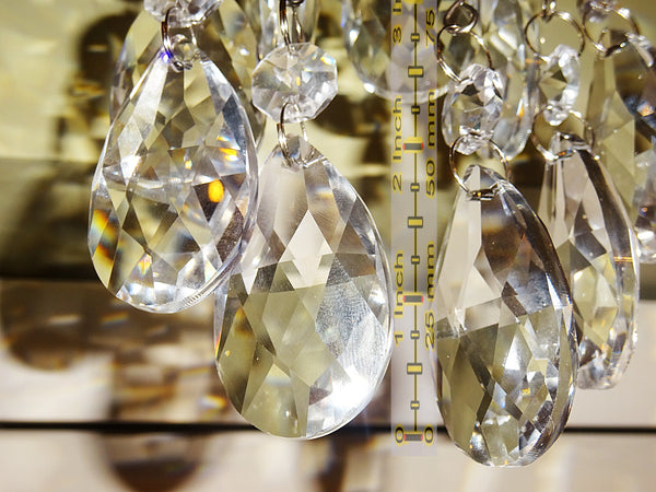 Clear Cut Glass Oval 50 mm / 2 inch Chandelier Crystals Drops Almond Beads Droplets Prisms Transparent 6
