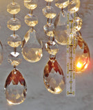Clear Glass Oval Almond 10.8 inch Chandelier Chain of Drops Crystals Beads Garland
