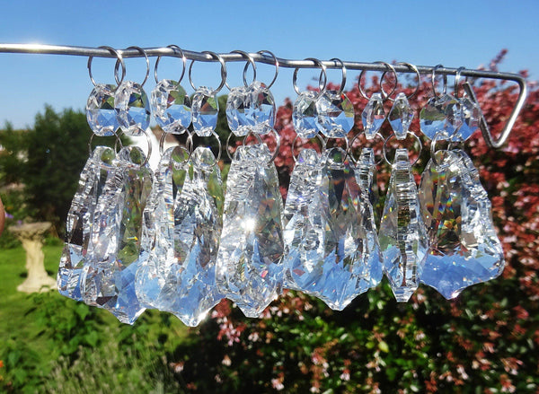 Clear Cut Glass Bell 2 inch Chandelier Crystals Drops Double Facet Transparent Droplets Prisms 5