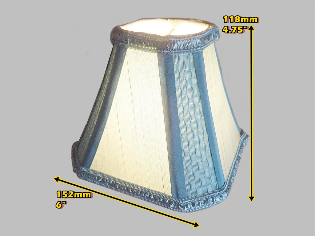 Duck Egg Blue Clip On Candle Lampshade 6 Chandelier Pendant Shade Seear Lights