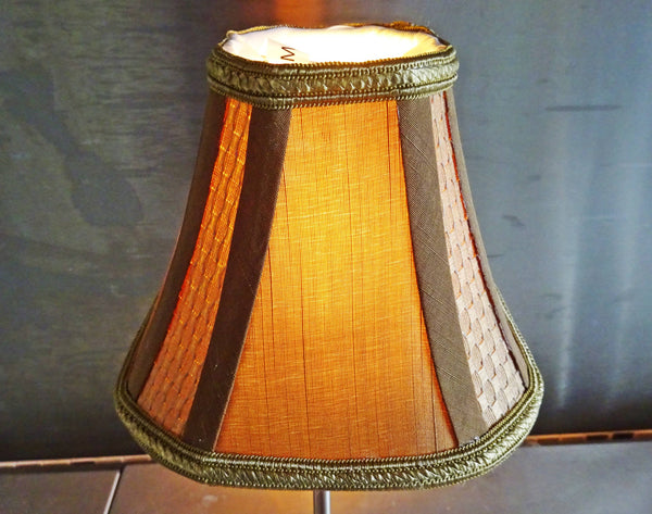Square Gold Clip On Bulb Candle Lampshade 6' Diameter Chandelier Shade Regal Classic 4