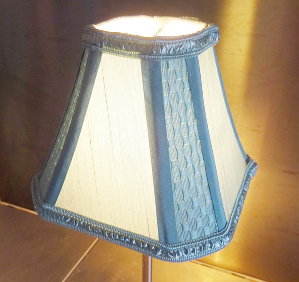 Square Duck Egg Blue Clip On Candle Lampshade 6' Diameter Chandelier Shade 7