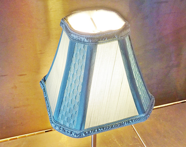Square Duck Egg Blue Clip On Candle Lampshade 6' Diameter Chandelier Shade 3