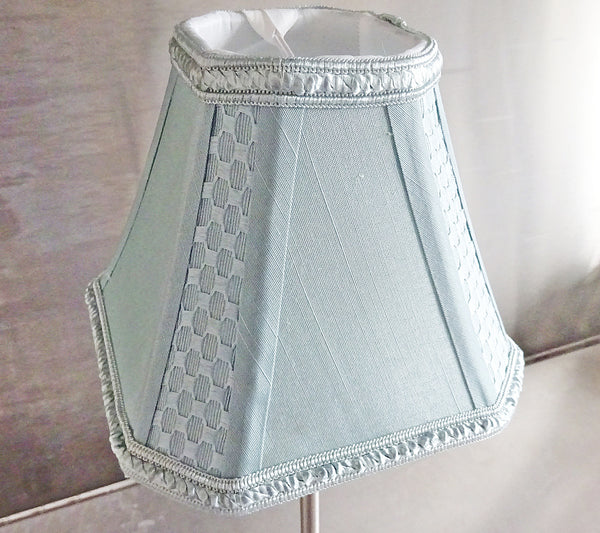 Square Duck Egg Blue Clip On Candle Lampshade 6' Diameter Chandelier Shade 4