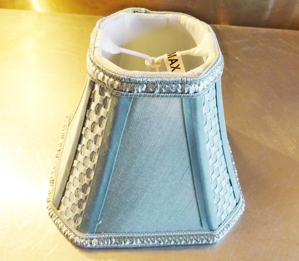Square Duck Egg Blue Clip On Candle Lampshade 6' Diameter Chandelier Shade 5