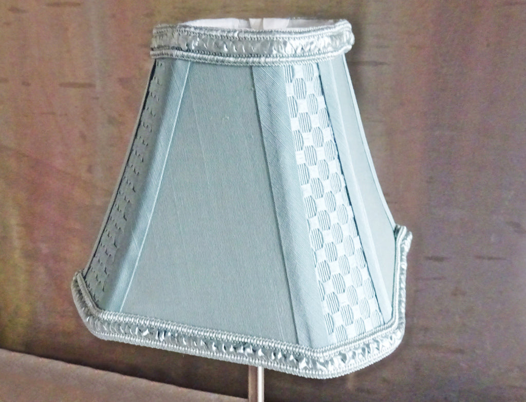 Duck Egg Blue Clip On Candle Lampshade 6 Chandelier