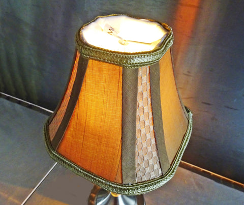 Square Gold Clip On Candle Lampshade 6' Diameter Chandelier Shade Regal Classic 3