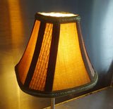 Square Gold Clip On Candle Lampshade 6' Diameter Chandelier Shade Regal Classic 4