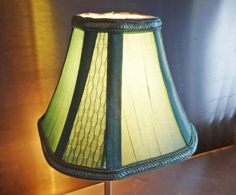 Square Sage Green Clip On Candle Lampshade 6' Diameter Chandelier Shade Regal Classic 4