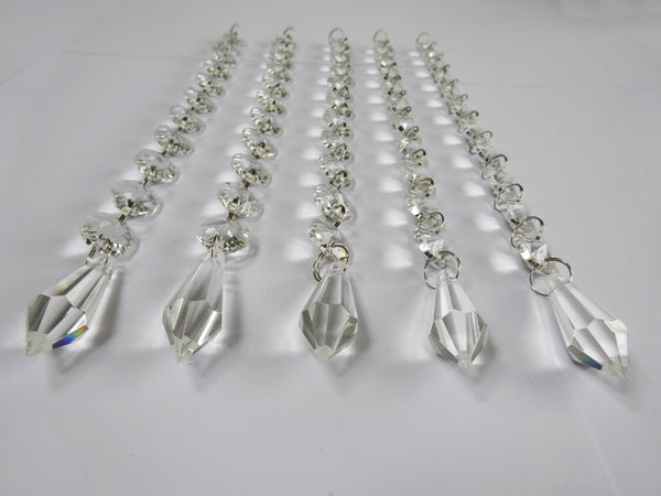 Clear Glass Torpedo 255 mm / 10 inch Chandelier Chain of Drops Crystals Beads Garland Pendant Decoration 3
