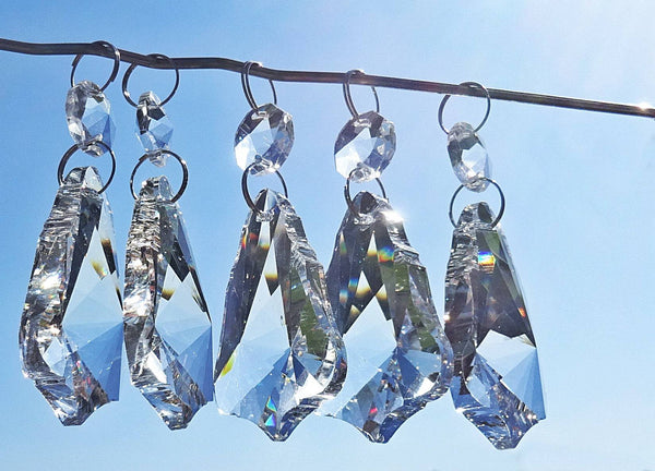 Clear Cut Glass Bell 2 inch Chandelier Crystals Drops Double Facet Transparent Droplets Prisms 2