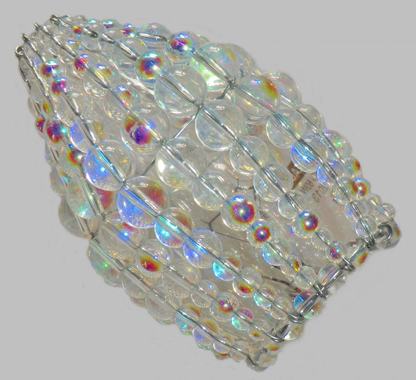 Chandelier Bead Candle Size Light Bulb Aurora Borealis AB Glass Cover Sleeve Lampshade Alternative Beaded 2