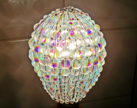 Aurora Borealis Glass Chandelier Beaded Lightbulb GLS Cover Sleeve 3