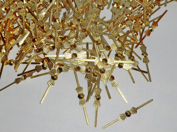 300 Brass Gold Metal Chandelier Clasps Links for Droplets Beads Crystals Drops 3