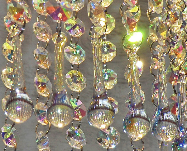 "12 Aurora Borealis Orbs 53 mm 2"" Chandelier Crystals Droplets Beads Drops Christmas Wedding Decorations 6"