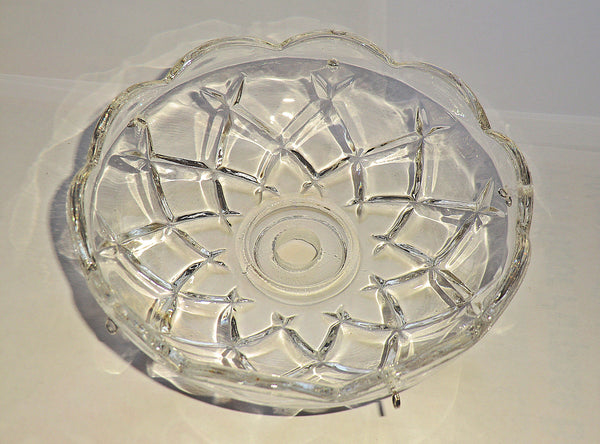 Bobeche Chandelier Light Bowl Drip Pan Scallop Dish 11mm Centre Hole 4