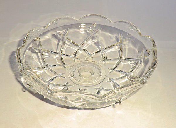 Bobeche Chandelier Light Bowl Drip Pan Scallop Dish 11mm Centre Hole 5