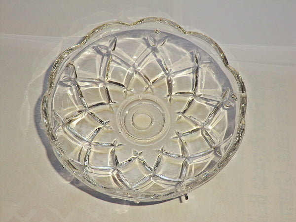 Bobeche Chandelier Light Bowl Drip Pan Scallop Dish 11mm Centre Hole 3