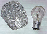 Chandelier Bead Light bulb GLS Clear Glass Cover Sleeve Lampshade Alternative 2