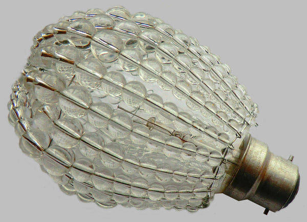Chandelier Bead Light bulb GLS Clear Glass Cover Sleeve Lampshade Alternative 4