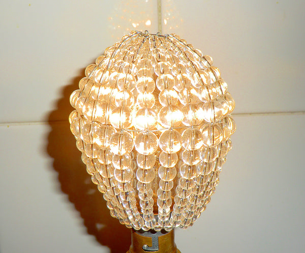 Chandelier Bead Light bulb GLS Clear Glass Cover Sleeve Lampshade Alternative 3