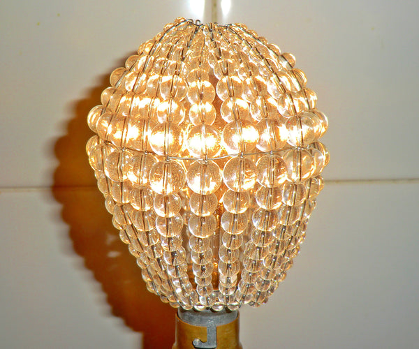 Chandelier Bead Light bulb GLS Clear Glass Cover Sleeve Lampshade Alternative 5