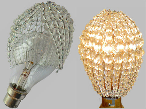 Chandelier Bead Light bulb GLS Clear Glass Cover Sleeve Lampshade Alternative 1