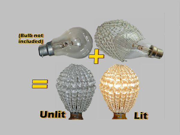 Chandelier Bead Light bulb GLS Clear Glass Cover Sleeve Lampshade Alternative 11