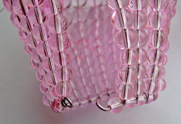 Chandelier Bead Light bulb GLS Pink Glass Cover Sleeve Lampshade Alternative 8