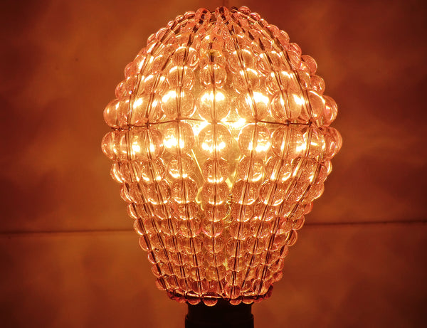 Chandelier Bead Light bulb GLS Pink Glass Cover Sleeve Lampshade Alternative 11