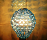 Teal Glass Chandelier Beaded Lightbulb GLS Cover Sleeve 7