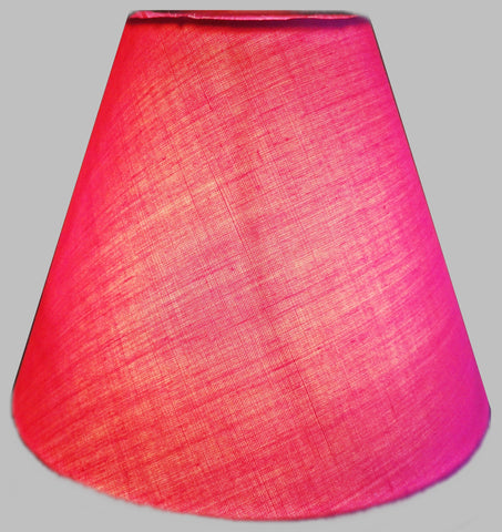 "Hot Pink Clip On Candle Lampshade 5.5"" Chandelier Pendant Light Shade Retro Chic 1"