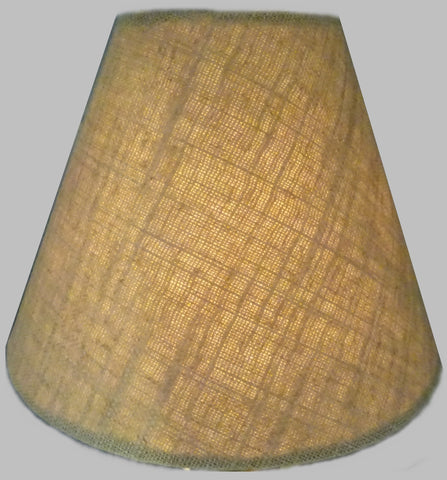 "Biscuit Hessian Linen Clip On Candle Lampshade 5.5"" Chandelier Pendant Light Shade 1"