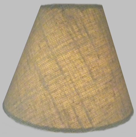 "Calico Hessian Linen Clip On Candle Lampshade 5.5"" Chandelier Pendant Light Shade 1"