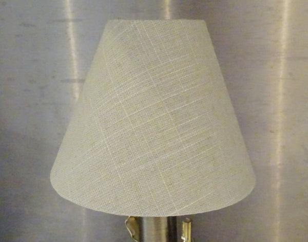"Calico Hessian Linen Clip On Candle Lampshade 5.5"" Chandelier Pendant Light Shade 5"