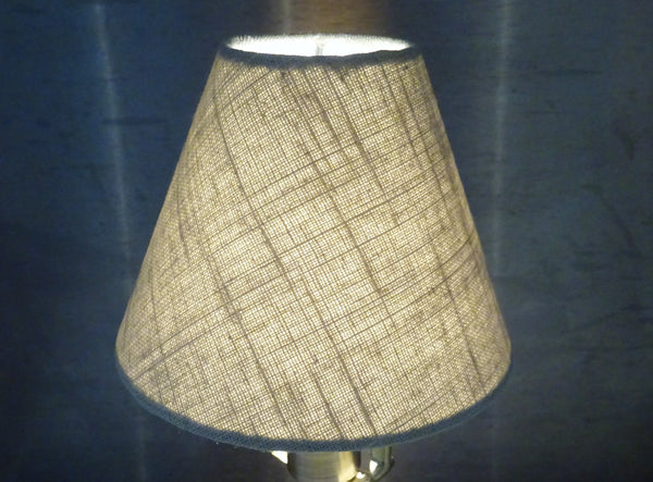"Calico Hessian Linen Clip On Candle Lampshade 5.5"" Chandelier Pendant Light Shade 7"
