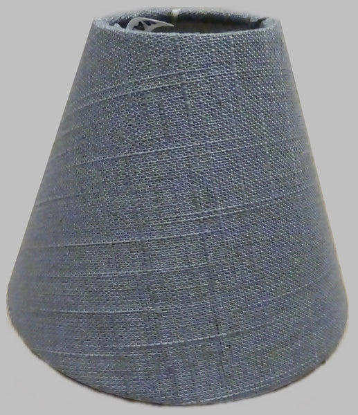 "Grey Hessian Linen Clip On Candle Lampshade 5.5"" Chandelier Pendant Light Shade 4"