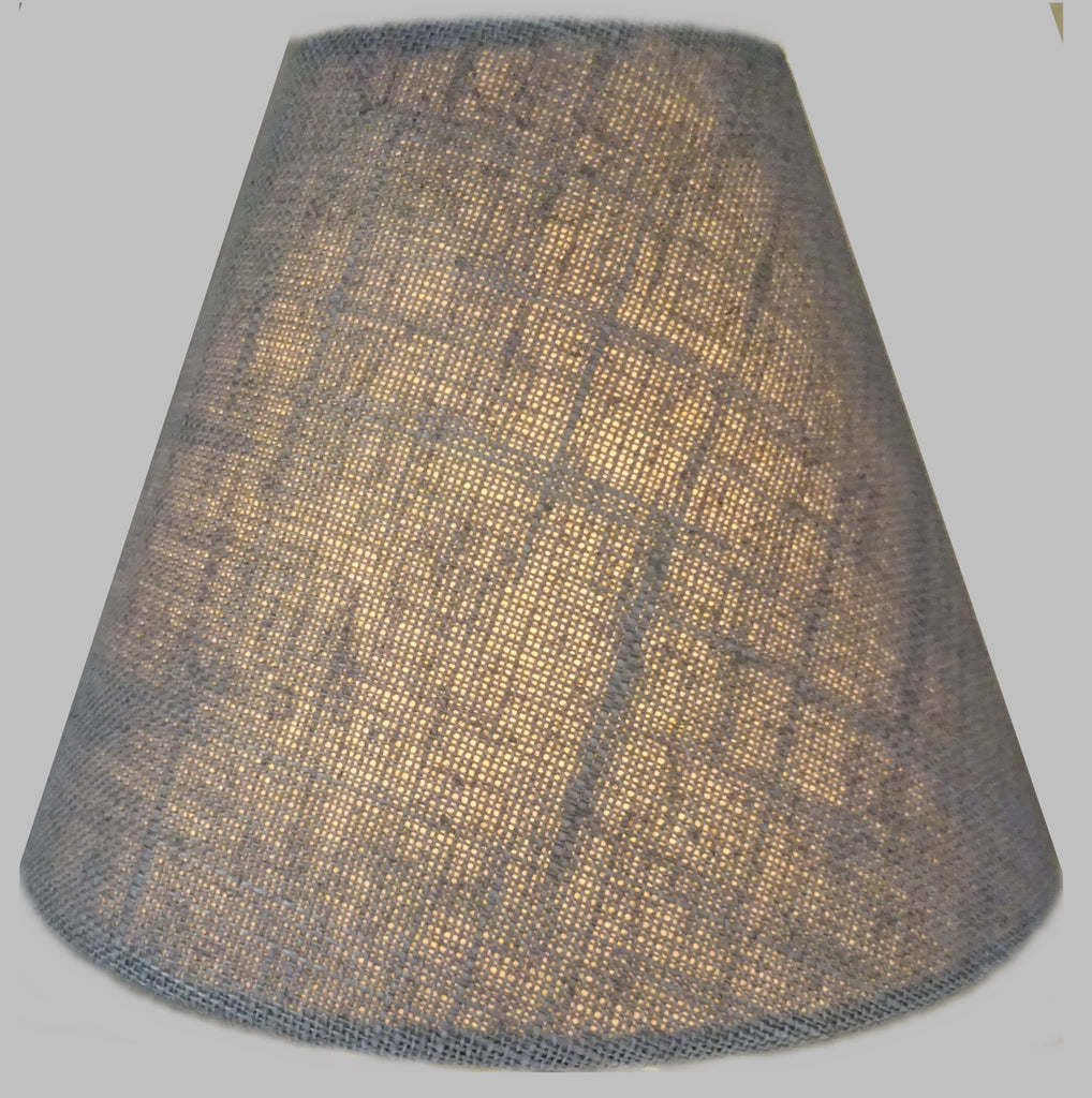"Grey Hessian Linen Clip On Candle Lampshade 5.5"" Chandelier Pendant Light Shade 1"